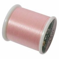 KO thread Waxed coated Japanese Thread Pink for jewellery making and beadwork